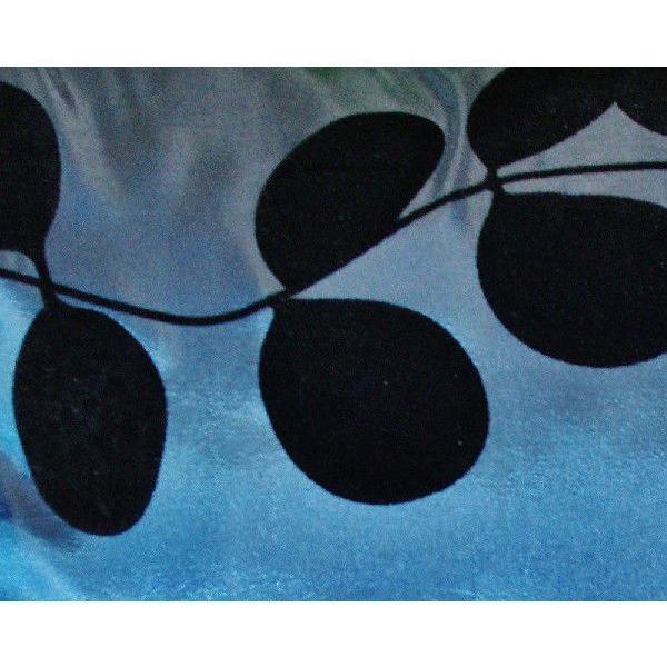 クッションカバー 45×45cm 対応 絹 おみやげ 海外 雑貨 / タイ シルク クッション カバー リーフ デザイン ターコイズ ブルー 青|taikokuya|02