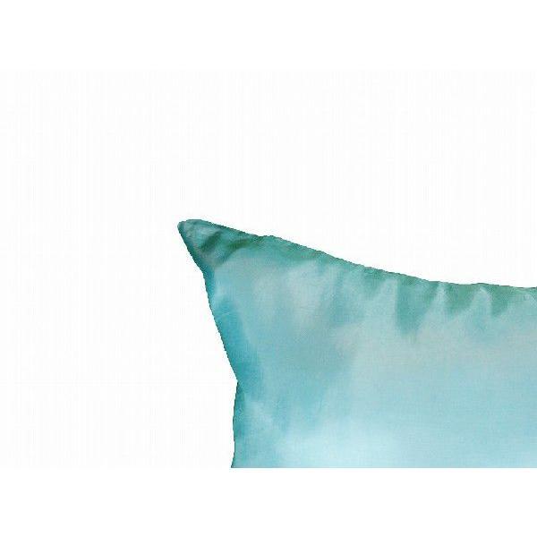 クッションカバー 45×45cm 対応 絹 おみやげ アジアン 雑貨 / タイ シルク クッション カバー リーフ デザイン アクア ブルー 青|taikokuya|05