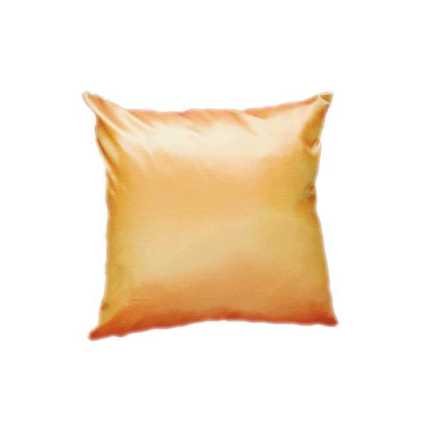 クッションカバー 45×45cm 対応 絹 おみやげ アジアン 雑貨 / タイ シルク クッション カバー チェッカー デザイン オレンジ 橙|taikokuya|03