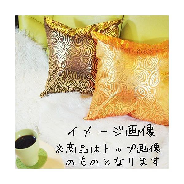 クッションカバー 45×45cm 対応 絹 おみやげ アジアン 雑貨 / タイ シルク クッション カバー チェッカー デザイン オレンジ 橙|taikokuya|06