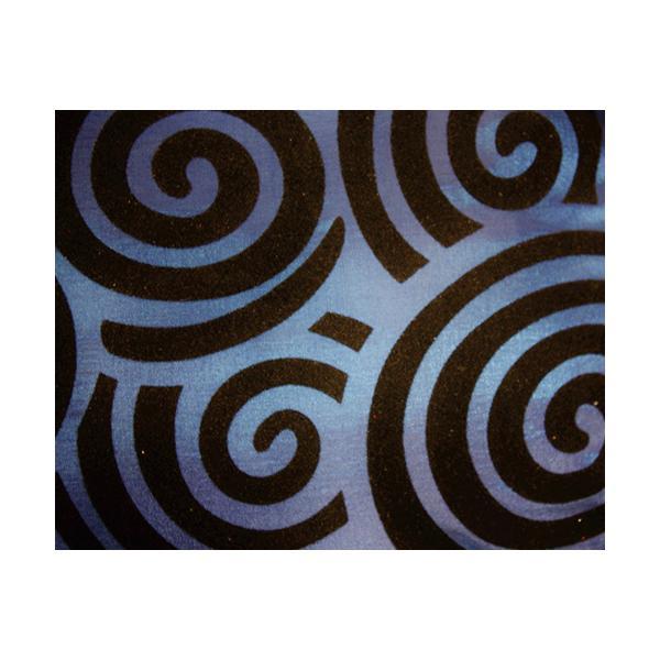 クッションカバー 45×45cm 対応 絹 おみやげ アジアン 海外 雑貨 / タイ シルク クッション カバー スクリュー デザイン ブルー 青|taikokuya|02