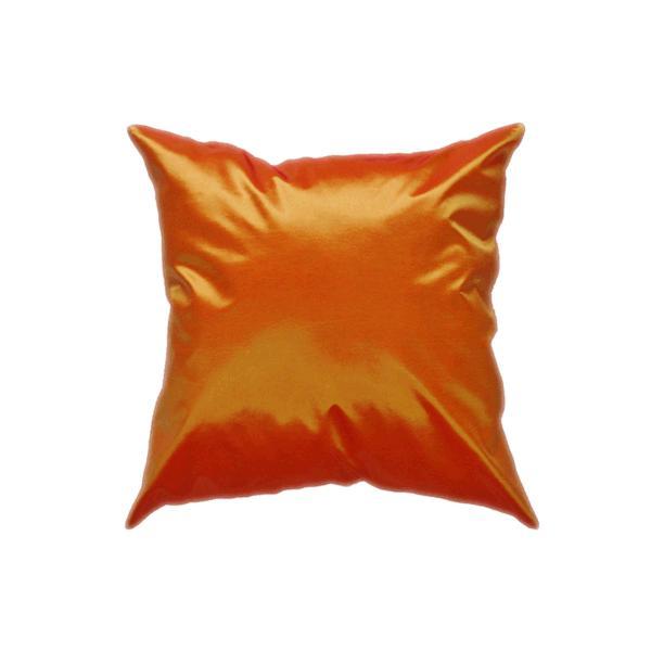 クッションカバー 45×45cm 対応 オレンジ タイ シルク 絹 無地 おみやげ 雑貨 / 121006023|taikokuya