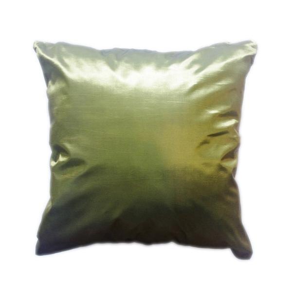 クッションカバー 45×45cm 対応 グリーン 緑 タイ シルク 絹 無地 おみやげ 雑貨 / 130915040 taikokuya