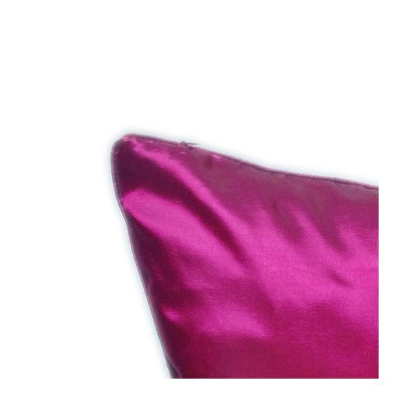 クッションカバー 45×45cm 対応 マゼンタ 赤 タイ シルク 絹 無地 おみやげ 雑貨 / 130915041|taikokuya|02