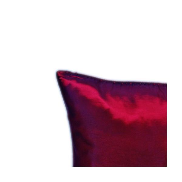 クッションカバー 45×45cm 対応 ルビー レッド 赤 タイ シルク 絹 無地 おみやげ 雑貨 / 130915042|taikokuya|02