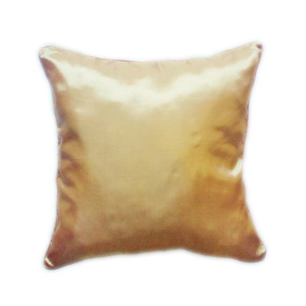 クッションカバー 45×45cm 対応 イエロー ゴールド 金 タイ シルク 絹 無地 おみやげ 雑貨 / 130915044|taikokuya