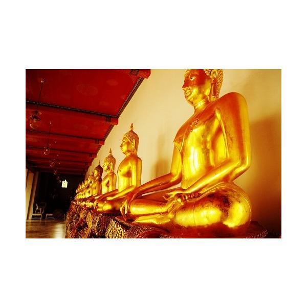 ステッカー ブッダ 仏陀 仏像 坐禅 タイ 文字 アジアン シール イエロー L サイズ / おみやげ 旅行|taikokuya|12