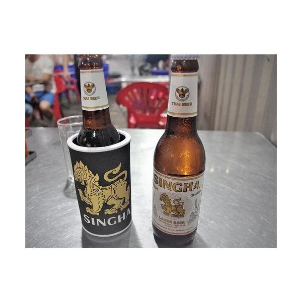 ステッカー シンハー ビール SINGHA BEER 酒 グッズ (ホワイト) L サイズ シール タイ旅行 おみやげ|taikokuya|02