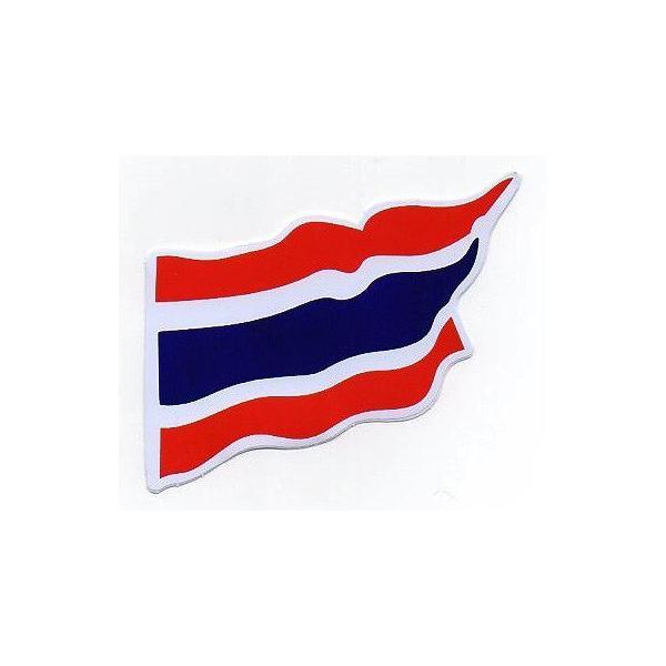 ステッカー タイ 雑貨 アジアン シール / タイ王国 国旗 ステッカー(THAI) M サイズ t-F / お土産 おみやげ 海外 旅行 アジア|taikokuya