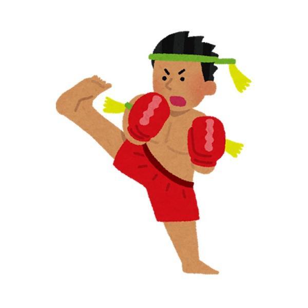 ステッカー タイ 王国 ムエタイ キック ボクシング グッズ (MUAY-THAI 7P-B) L サイズ / おみやげ 旅行|taikokuya|02