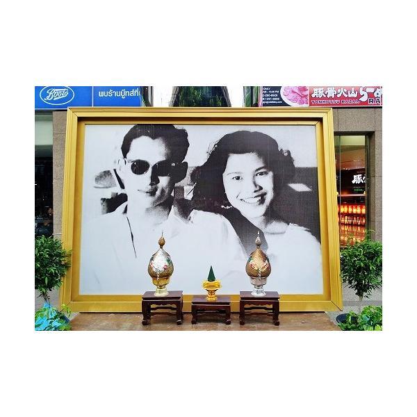 ステッカー タイ 雑貨 アジアン シール / タイ 王室 ステッカー プミポン 国王 (ラーマ 9世) 肖像 + 国旗 Sサイズ l-A / おみやげ|taikokuya|17