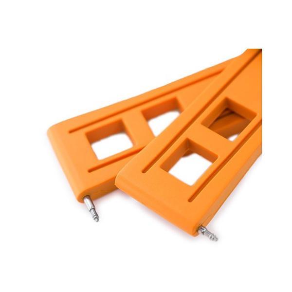 22mm Crafter Blue 時計ベルト NBRラバー オレンジ ストレートエンド