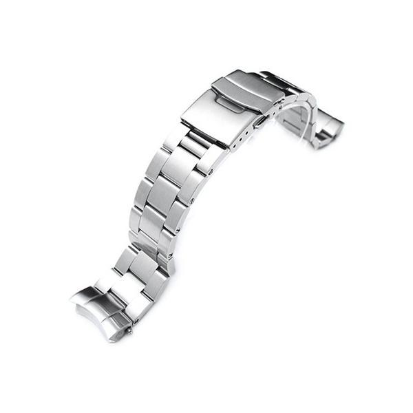 20mm メタル時計バンド ステンレススチール オイスター ブレスレット for SEIKO SUMO SBDC031, SBDC033, SBDC049 PADI, SZSC004他