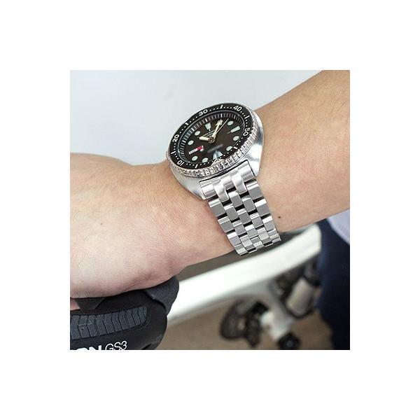 22mm メタル時計バンド スーパーエンジニア2 ブレスレット Vクラスプ for セイコー サードダイバー復刻 ニュータートル SRP777, SRP779, SRP773, SRP775, SRPA21