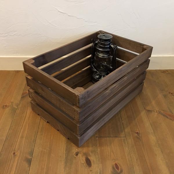 ポテトボックス ブラウン 1箱 【複数購入可】 // ウッドボックス 木箱 ベジタブルボックス |tail-sougou
