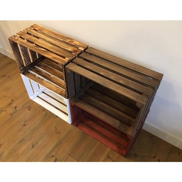 ポテトボックス ブラウン 1箱 【複数購入可】 // ウッドボックス 木箱 ベジタブルボックス |tail-sougou|03