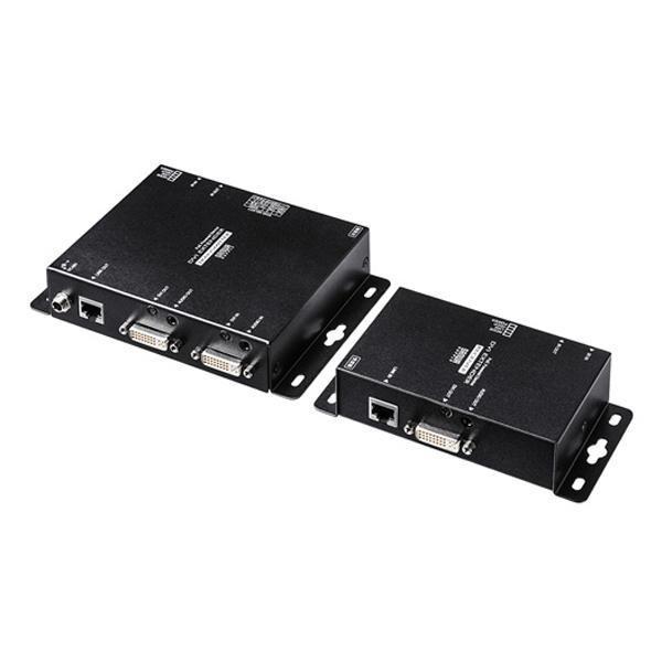 サンワサプライ PoE対応DVIエクステンダー(セットモデル) VGA-EXDVPOE 送料無料