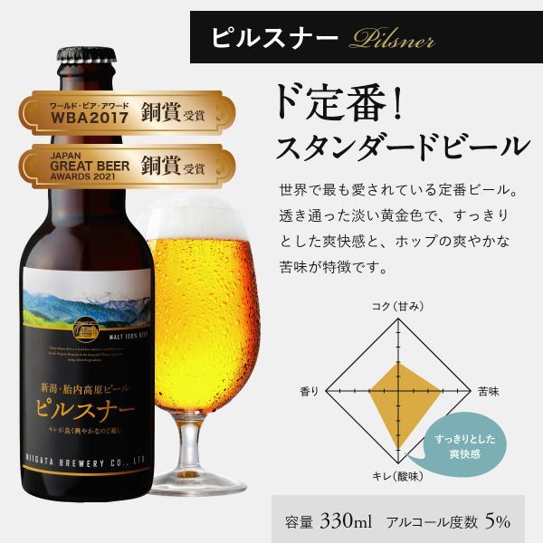 クラフトビール 地ビール 新潟産 胎内高原ビール ピルスナー 330ml|tainaibeer|02