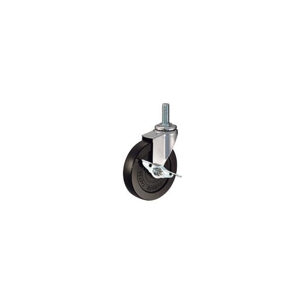ハンマー キャスター 車輪 415EA-PDB 125mm ねじ込み 旋回式 (ゴム一体車輪 [ローラーベアリング入り])|tairaml
