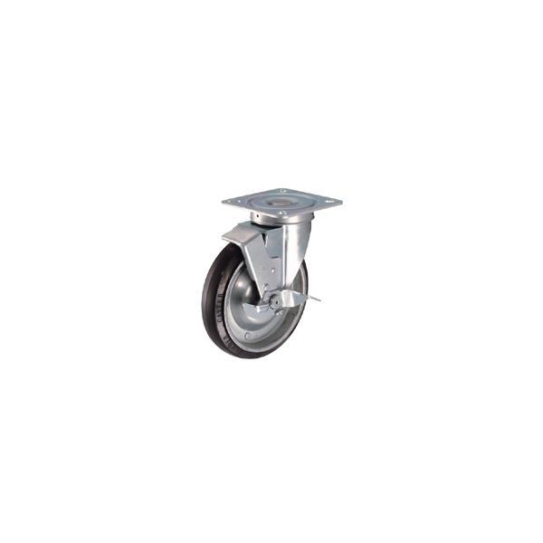 ハンマー キャスター 車輪 419S-NRB 200mm 平付プレート自在車 (ナイロン車輪[ローラーベアリング入])