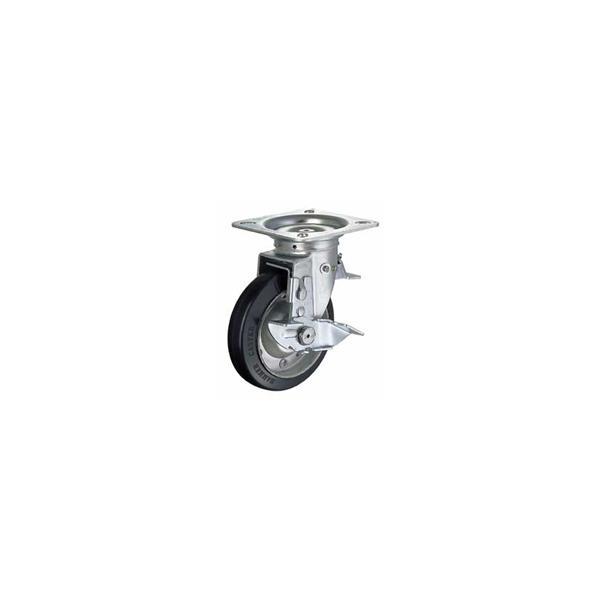 ハンマー キャスター 車輪 419F0S-R 125mm 平付プレート自在車 (ゴム車輪)