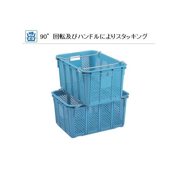 サンコー 三甲 サンテナー A#40 (PP) ハンドル付 104001-01 外寸 690 × 468 × 173 mm|tairaml|03
