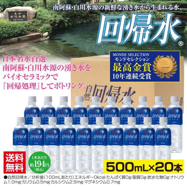 自然回帰水ボトル(500mL×20本)|taisei-online