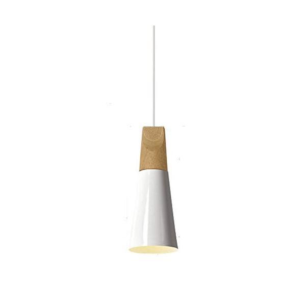 レイ照明 ペンダントライト 吊り下げ照明 1灯 木製 インテリア照明 おしゃれ シンプル LED対応 ダクトレール用 新生活 ホワイト