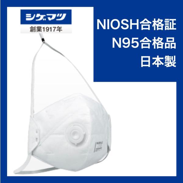 【在庫販売】重松製作所  N95マスク DD02V-N95-2K 10個入
