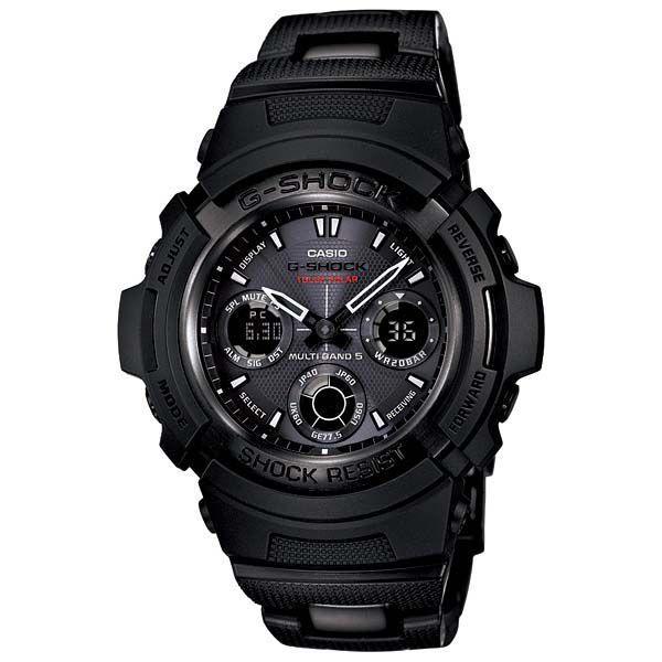 【G-SHOCK】Gショック Black×Gray Series(ブラック×グレーシリーズ)デジタルアナログコンビネーションタフソーラー電波腕時計 AWG-100BC-1CJF taiyodo