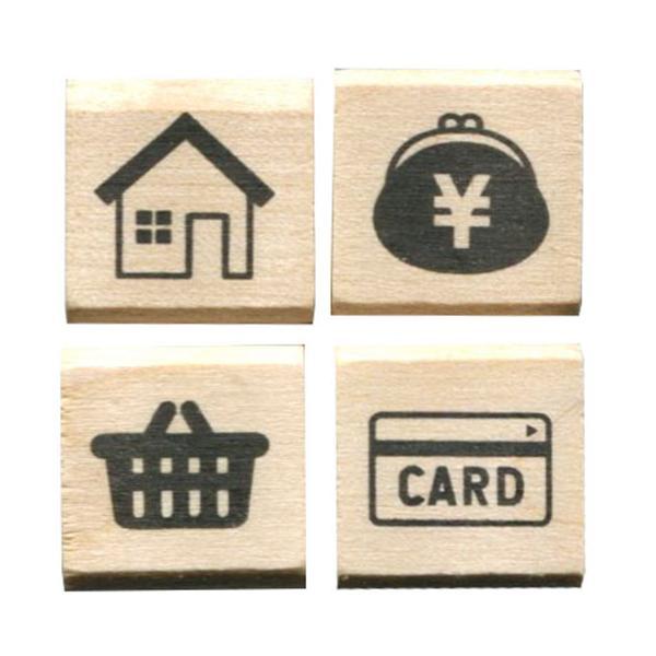 こどものかお 手帳 はんこ部 4Pセット ホーム・財布・カゴ・カード 0409-007