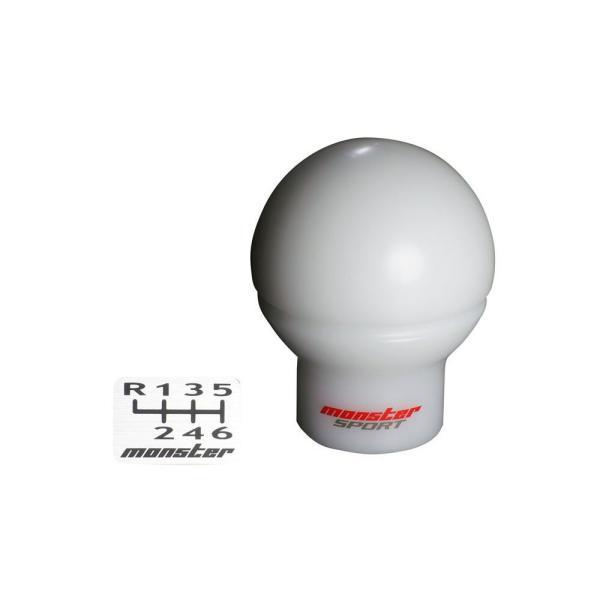 86(ZN6)/BRZ(ZC6)用シフトノブ【モンスタースポーツ シフトノブ Cタイプ(球型/ショート) ホワイト】寸法:M12xP1.25【1APN10】|tajimastore