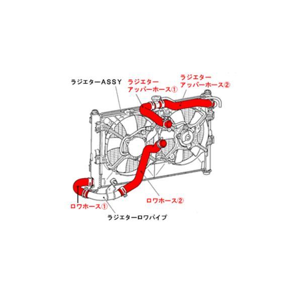 ランサーエボリューション ラジエーターホース【シリコンラジエターホース】ランサーEvo.10|tajimastore|03