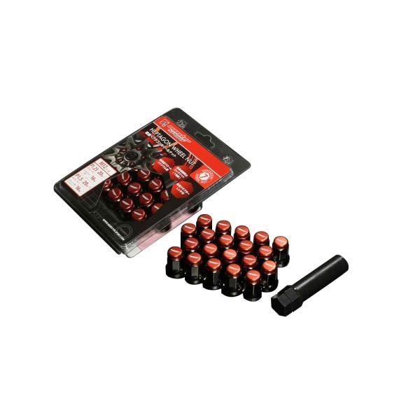 ホイールナット「ヘプタゴンホイールナット(20個セット)モンスタースポーツ」 M12×P1.25 L32「684520-0000M」|tajimastore