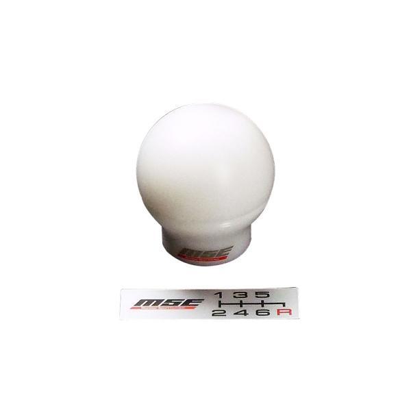 スイフトスポーツ シフトノブ ZC32S 【モンスタースポーツ MSEシフトノブ球タイプ/白】M12xP1.25|tajimastore