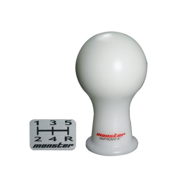 シフトノブ【モンスタースポーツ シフトノブAタイプ(球型)/白】M10xP1.25*ニッサン/マツダ【831135-1012M】|tajimastore