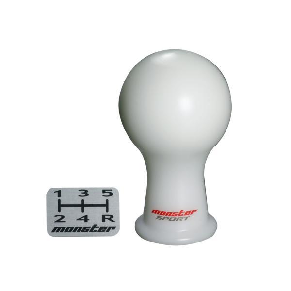 シフトノブ【モンスタースポーツ シフトノブAタイプ(球型)/白】M10xP1.5*ホンダ【831135-1015M】|tajimastore