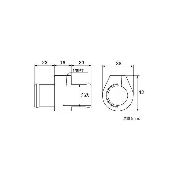 メーター【水温センサーアタッチメント】アルトワークス用 φ26mm tajimastore 02