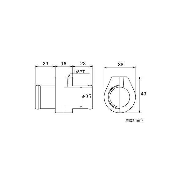メーター【水温センサーアタッチメント】ランサーエボリューション用 φ35mm|tajimastore|02