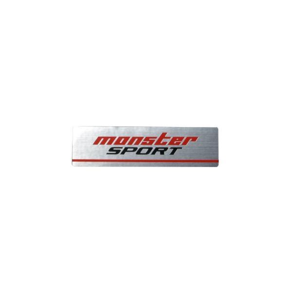 モンスタースポーツ ステッカースイフト/ジムニー【NEWモンスターステッカー アルミタイプ(アルミヘアラインXレッド×グレー)】60×16.5|tajimastore
