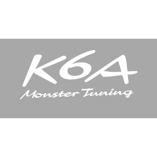 ジムニー ステッカー JB23W 【モンスタースポーツ K6A Monster Tuning ステッカー/ホワイト(大)カッティングステッカー】470×190|tajimastore