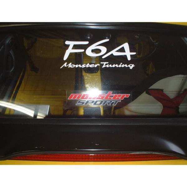 ステッカー「モンスタースポーツF6A Monster Tuning ステッカー*スイフト/ジムニー/ランサーエボリューション/86「896127-0000M」|tajimastore