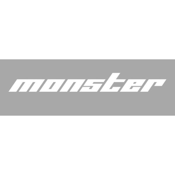 モンスタースポーツ ステッカースイフト/ジムニー/ランサーエボリューション/86【切り文字ステッカー(白特大)】1000×120|tajimastore