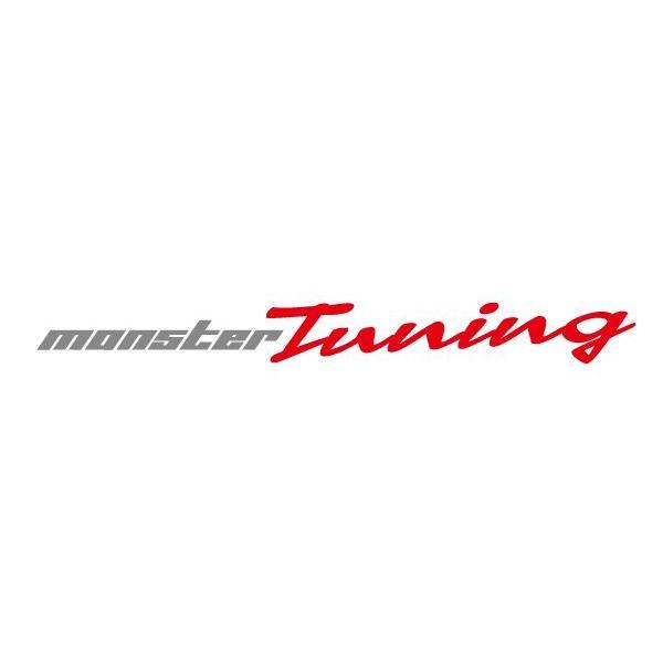 モンスタースポーツステッカー*スイフト/ジムニー/ランサーエボリューション/86 MONSTER Tuningステッカー ガンメタ×レッド 420×43「896158-0000M」|tajimastore