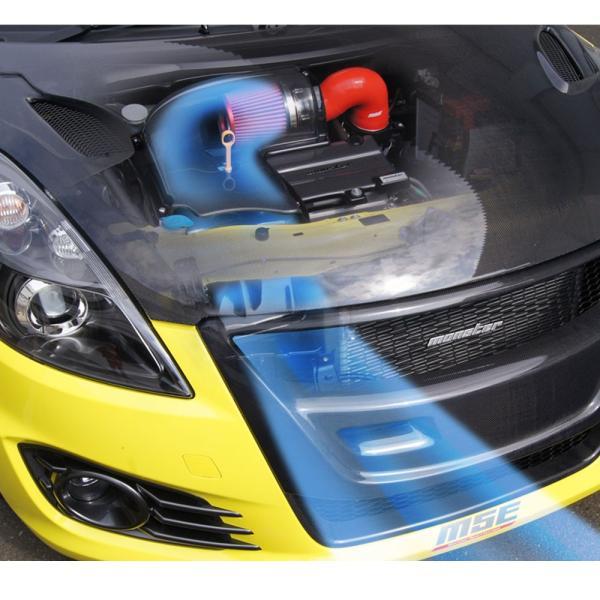 スイフトスポーツ エアクリーナー ボックス ZC32S 【モンスタースポーツ エアクリーナーボックスMSEカーボンエアインダクションボックス】 tajimastore 02