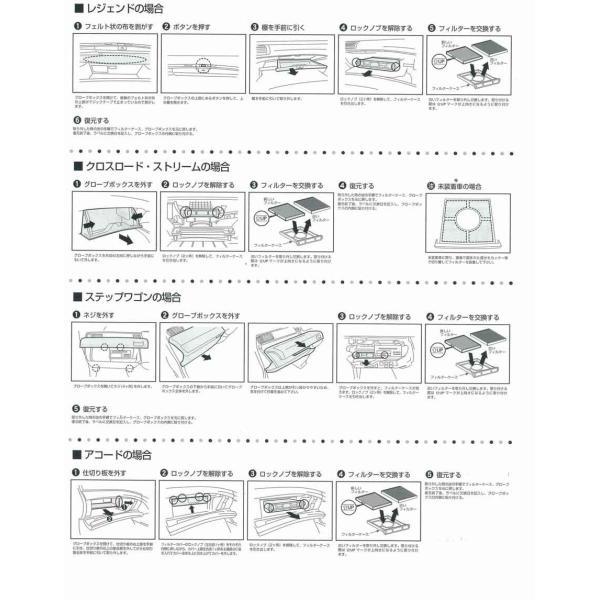 メンテ 高性能カーエアコンフィルター ホンダアコード/エリシオン/オデッセイ/シビック/ストリーム|tajimastore|05