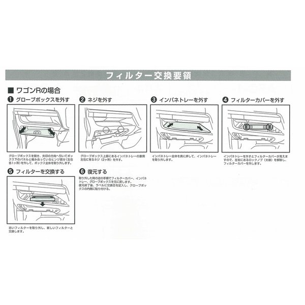 メンテ 高性能カーエアコンフィルター パレット/ラパン/ワゴンR/ルークス/AZワゴン|tajimastore|02