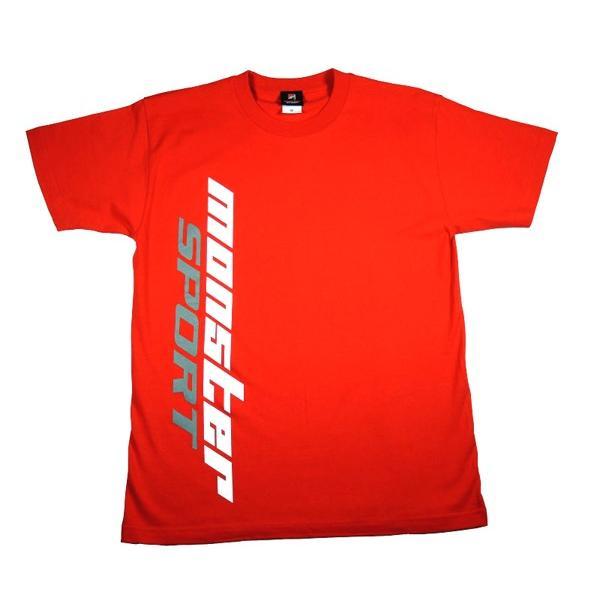 ウェア「モンスタースポーツ ビッグロゴTシャツ(半袖/レッド/サイズ:XL)」|tajimastore