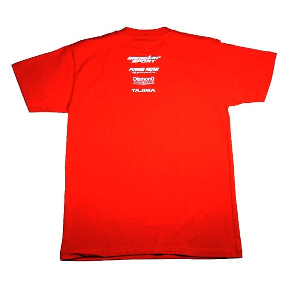 ウェア「モンスタースポーツ ビッグロゴTシャツ(半袖/レッド/サイズ:XL)」|tajimastore|02