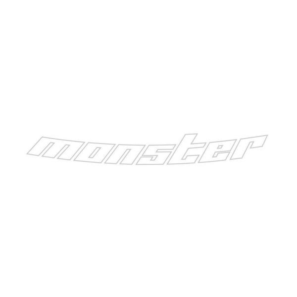 モンスタースポーツ ステッカー*ランサーエボリューション【中抜きステッカー [Evo.8ボンネット専用](ライトシルバー)】650×85|tajimastore